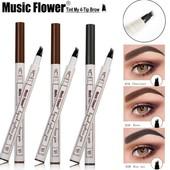 Маркер для бровей с эффектом татуажа Music Flower liquid eyebrow pen тон 02 коричневый