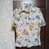 """Фирменная летняя коттоновая рубашка """"Дизель"""" в хорошем состоянии р.M-L"""