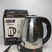 Чайник электрический, электрочайник дисковый из нержавейки 2.0л