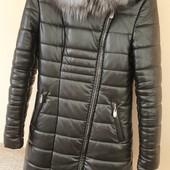 Куртка пальто кожаное раз. 46