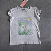 Блиц! Классная фирменная футболка от Рерсо! на 6-7 лет рост 122! замеры! хлопок