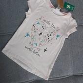 Био-хлопок! Классная фирменная футболка от Рерсо! на 5-6 лет рост 116! хлопок!