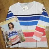 ❤️Blue Motion Германия❤️модный летний пуловер нежный натуральный хлопок евро 40\42 оригинал.упаковка