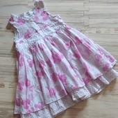 Шикарное фирменное платье девочке 1-1,5 лет. Идеальное состояние. Сотни лотов!