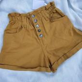 ❤️Трендовые коттоновые шорты с высокой посадкой❤️Турция