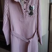 Шикарное платье-рубашка,новое с биркой,размер 128