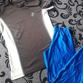 Одним лотом.Лосины для гимнастики р.44-46 и футболка.