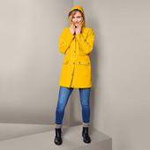 ☘ Жіночий вітрозахисний непромокальний жовтий плащ Tchibo (Німеччина), р.наш: 46-50 (40 євро)