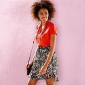 Шифоновая легкая юбка на подкладке на лето от Tchibo (германия ) размер 32 евро=38-40