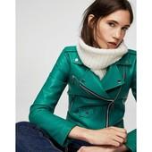 Трендовая кожаная куртка-косуха. 2 цвета