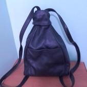 Шкіряний рюкзачок,3 відділення