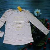 футболка с длинным рукавом, тонкий реглан Pepperts. 134-140см