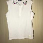 Ніжна бавовняна майка-блуза на вік 6-7 років 116см