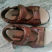 Качественные кожаные босоножки для мальчика, размер 31, стелька 19.7 см