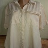 Женская рубашка лен .Размер 56-58