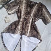 Нереальной красоты блуза в заметный принт