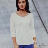 ☘1 шт☘ лонгслів жіночий білого кольору blue motion (Німеччина), розмір наш: 46-48 (М 40/42 євро)