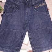 Легкие джинс.шорты 9-11лет сост.отл.см.замеры