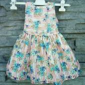 ❤️☀❤️Красивое пышное платье на подкладке с подьюпником. 1-1.5 года. Состояние идеальное.
