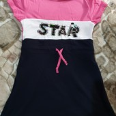 Платье для девочки на 5-6л, состояние нового
