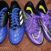 Nike, Adidas 33р. Фирменные бутсы. Синие