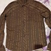 Шикарная красивая рубашка с жатка стречь. Не сток. SMC Semco. xxl,3xl4xl
