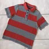 Стоп ❤ Фирменная стильная полосатая футболочка /поло, для парня-подростка,7-8 лет❤ Много лотов!