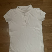 Белая футболка девочке на 5-7 лет - состояние отличное