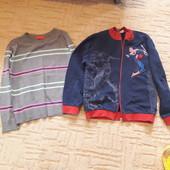 Кофта человек -паук+свитер р 140
