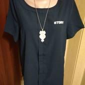 Синяя блуза 12/40 размера.