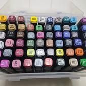 Скетч маркеры, фломастеры touch cool двусторонние для бумаги в пластиковом контейнере набор 60 шт