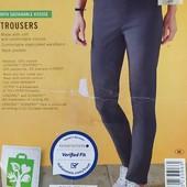Классные стрейчевые брюки из бенгалина Esmara Германия размер евро 36