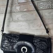 Натуральная сумка клатч. Замш+кожалак
