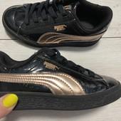 Отличные лаковые кроссовки Puma оригинал 28 размер 18 см ( на бирке 17 см)
