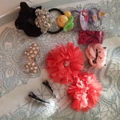 ♡Набор украшений для волос: заколки, резинки, крабики♡