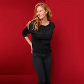 ☘ Жіноча блузка з довгими рукавами і круглим вирізом Tchibo (Німеччина), р.наш: 54-56 (48/50 євро)