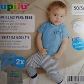 Комплект 2 шт футболки на малыша Lupilu Германия размер 50/56