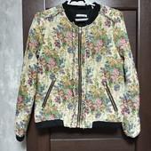 Всё по 150! Фирменный красивый пиджак-бомбер из гобелена в отличном состоянии р.10-12