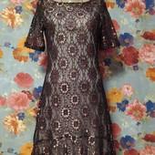 Шикарное гипюровое платье р-р 44-46