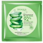 Тканевая маска для лица увлажняющая Aloe Vera 92% bioaqua 30 мл