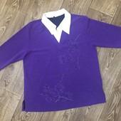 Кофта-блуза на пышные формы