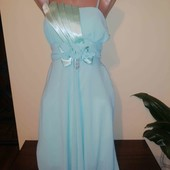 Шифонове плаття м'ятного кольору, малий розмір.