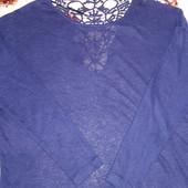 Красивешая темно-синяя кофточка размер 50-52 смотрите замеры