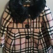 Шикарные шерстяное пальто размер 0-6