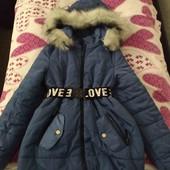 Куртка зимняя на девочку 42 размера.