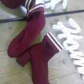 Крутые моло ботильоны ботинки самый обидный мой пролет материал резинка каблук под замш цвет бордо