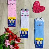 Носки детские кошки с ушками. размер 20-22 (32-34) ассорти. В лоте одни на выбор.