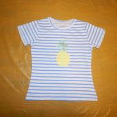 блестящий принт р. 98-104, модная футболка био хлопок Dana Schweiger, Германия