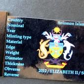 №19 монета Соломоновы Острова 20 центов, 2012