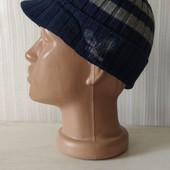 Комфортная сине -серая хлопковая шапочка с вышивкой орел Dopo Boys,2-8лет